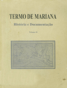 Capa para Termo de Mariana: História e Documentação (vol.II)