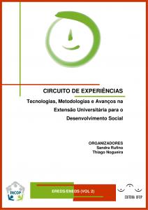 Capa para Circuito de Experiências: tecnologias, metodologias,e avanços na extensão universitária para o desenvolvimento social Vol.2