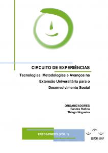Capa para Circuito de Experiências: tecnologias, metodologias,e avanços na extensão universitária para o desenvolvimento social Vol.1
