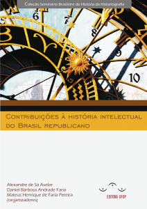 Capa para Contribuição à História intelectual do Brasil Republicano